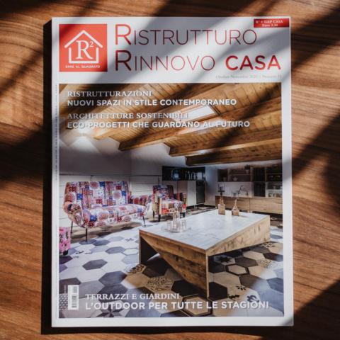 Copertina su rivista Ristrutturo Rinnovo Casa